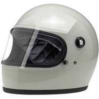 Biltwell Gringo-S Full Face Motorcycle Helmet in Gloss Polar Green - Overview