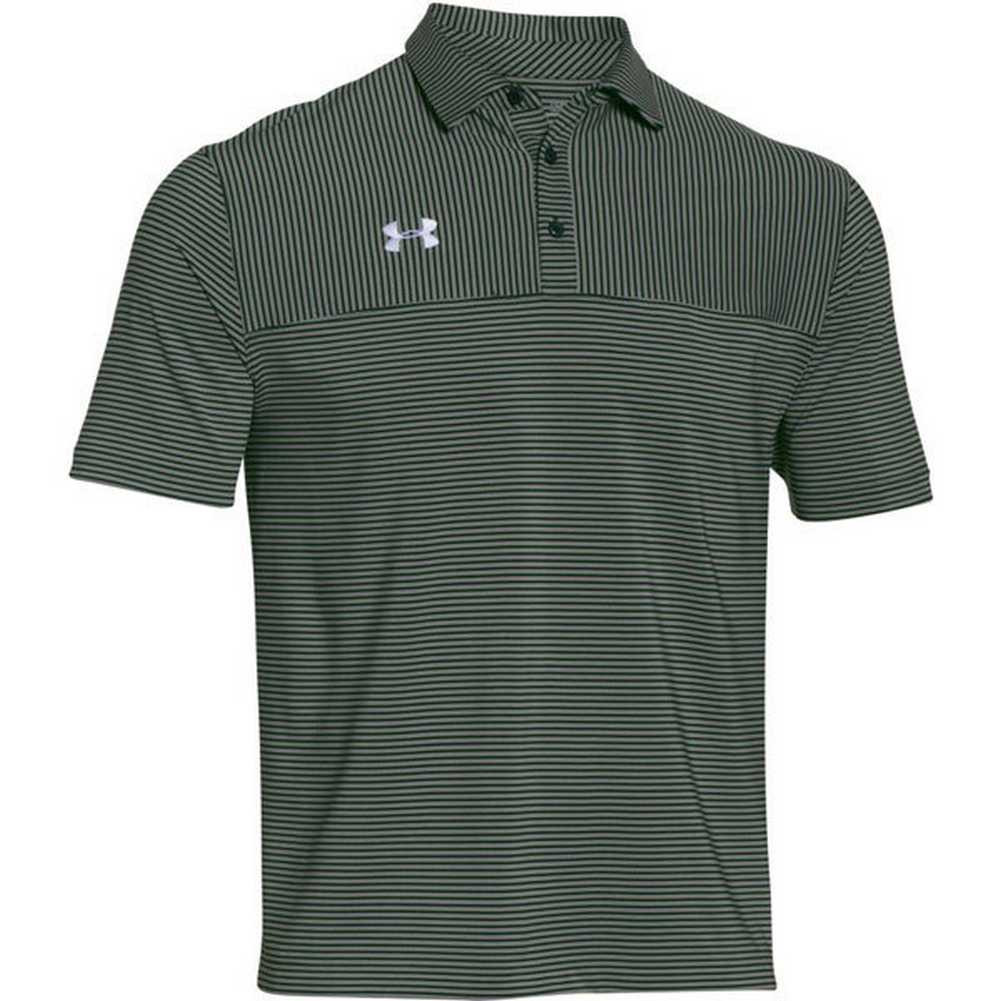Under armour men 39 s clubhouse striped polo golf shirt for Under armor business shirts