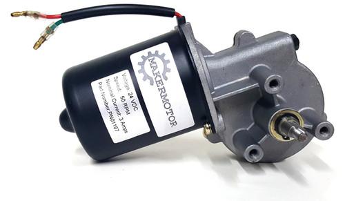 Pn01007 38 3 8 d shaft electric gear motor 12v low for Gear motor 500 rpm
