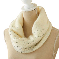 Knitted Infinity Scarf with Studs