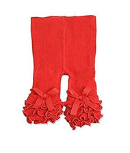 Baby Girls Red Ruffle Legging (12-18 months)