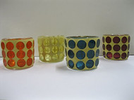 TAG Mosaic Dot Tealight Holders, Set of 4 Assorted
