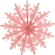 Pink 14 Inch Paper Sunburst Honeycomb Decoration