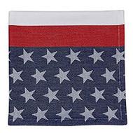 DII Flag Stripe Jacquard Cloth Napkins - Set of 4