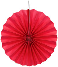 Paper Pinwheel Decoration Red 12 inch