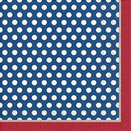 Top Dots Red & Blue Luncheon Napkin