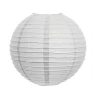 One White Eyelet Paper Lantern , 8 inch