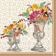 Fall Floral Paper Cocktail Napkin