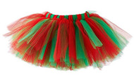 Red and  Green, Christmas, Holiday Tutu, 1 2 - 24 months