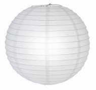"White Glitter Paper Lantern - 12"" - Set of 2"