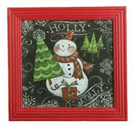 "16"" Holly Jolly Snowman Print"