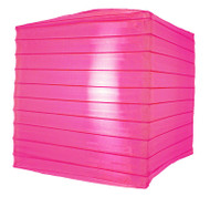 "10"" Hot Pink Nylon Square Lantern"