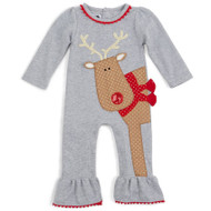 Mud Pie Reindeer One-Piece (6-9 months)