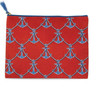 Mud Pie Anchors Away Carry All Case - Red