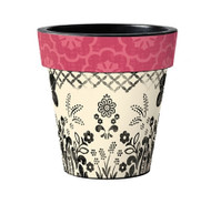 "Pink Floret 12"" Art Pot Planter"