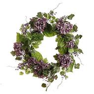 24 Inch Purple Hydrangea Wreath