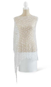 White Crocheted Cape