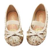 Little Girls Sequin Ballet Flats (Gold, 13)