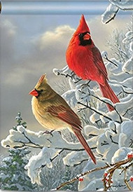Studio M Winter Cardinals House Flag