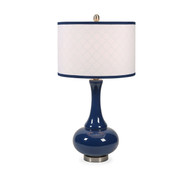 Essentials Marine Blue Glass Table Lamp