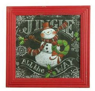"16"" Jingle All The Way Snowman Print"