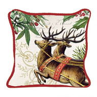 Christmas Reindeer Square Pillow