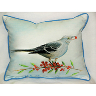 Mockingbird and Berries Large Pillow