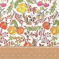 Fall Floral Luncheon Paper Napkins