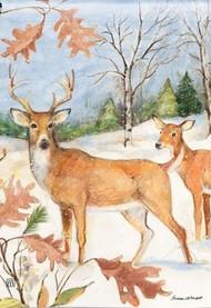 Studio M Winter Deer Garden Flag