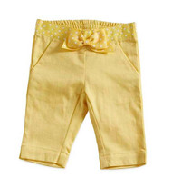 Baby Girls Yellow Capri Pant with Polka Dot (12-18 months)