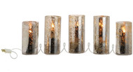 "78"" Antiqued Lighted Pillar Candle Strand"