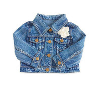 Baby Girls Jean Jacket with Flower