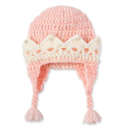 Infant Girls Hand Crocheted Crown Hat