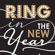 Ring in the New Year Paper Cocktail Napkin