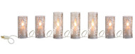"90"" Antiqued Lighted Pillar Candle Strand"