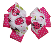 Pink Beetle Hair Bow