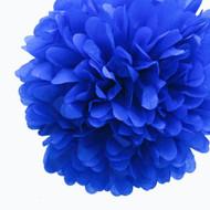 """Royal Blue 14"""" Party Tissue Pom Pom, Set of 4"""