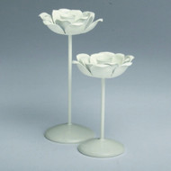 Flower Blossom Taper Candle Holders - Set of 2