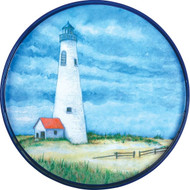 "Lighthouse 18"" Round Tray"