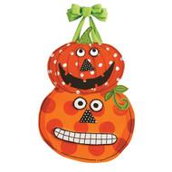 Pumpkin Faces Door Decoration