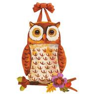 Floral Owl Door Decoration