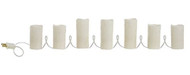 "86"" Beaded Lighted Pillar Candle Strand"