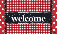 Gingham Welcome MatMate
