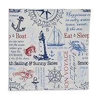 DII Anchor Nautical Cloth Napkins - Set of 4