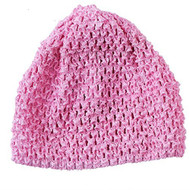 Baby Girls Crocheted Pink Hat