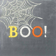 Boo Halloween Paper Cocktail Napkin