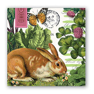 Garden Bunny Cocktail Paper Napkins