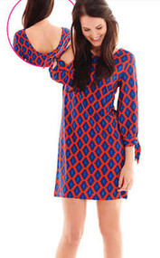 Mud Pie Anderson Red/Navy Dress - Medium