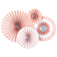 Pink Ballet Paper Rosettes Party Fans