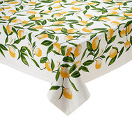 "D.I.D. Lemon Printed 60"" x 84"" Tablecloth"
